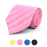Striped Microfiber Poly Woven Tie - MPW5819