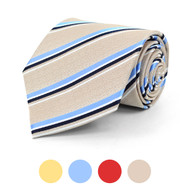 Striped Microfiber Poly Woven Tie - MPW5820