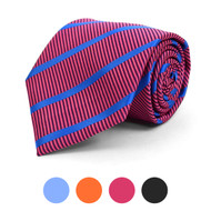Striped Microfiber Poly Woven Tie - MPW5822