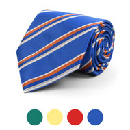 Striped Microfiber Poly Woven Tie - MPW5824