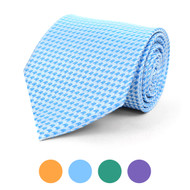 Houndstooth Microfiber Poly Woven Tie - MPW5827