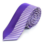 "Purple Microfiber Poly Woven 2.25"" Slim Panel Tie - MPPW1611"
