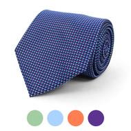 Geometric Microfiber Poly Woven Tie - MPW5829