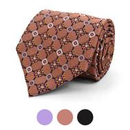 Geometric Microfiber Poly Woven Tie - MPW5833