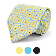 Floral Geometric Microfiber Poly Woven Tie - MPW5838
