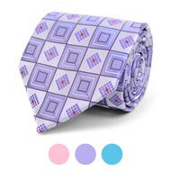 Geometric Microfiber Poly Woven Tie - MPW5839