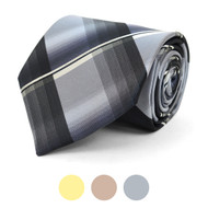 Plaid Microfiber Poly Woven Tie - MPW5840