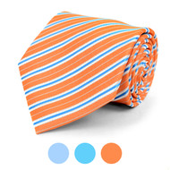 Striped Microfiber Poly Woven Tie - MPW5841