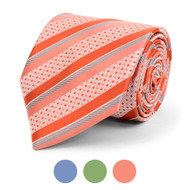 Striped Microfiber Poly Woven Tie - MPW5842