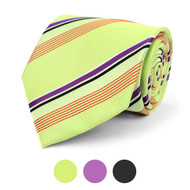 Striped Microfiber Poly Woven Tie - MPW5843
