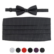 Men's Fancy Neat Matching Cummerband and Bow tie Set MPWCBBT
