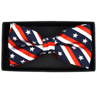 Men's U.S Flag Pattern Banded Bow Tie