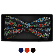 Men's Music Note Banded Bow Tie
