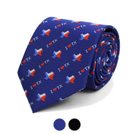 I Love Texas Pattern Novelty Tie