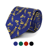Brass Instruments Novelty Tie