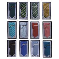 12pc Random Assorted Pack Tie, Hanky, Cufflink & Tie Bar Set PWTH/12ASST