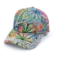 """Love"" Bling Studs Flower Baseball Cap, Hat CFP9584"