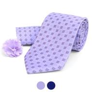 Square Dotted Tie, Hanky & Lapel Pin Box Set THLB07060M