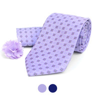 Square Dotted Tie, Hanky & Lapel Pin Box Set THLB07060M