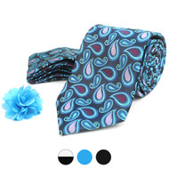 Paisley Pattern Tie, Hanky & Lapel Pin Box Set THLB07058M