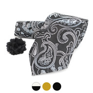 Paisley Pattern Tie, Hanky & Lapel Pin Box Set THLB07035M