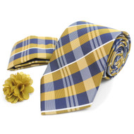 Plaid Tie, Matching Hanky & Lapel Pin Box Set THLB07075