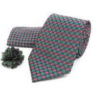 Dotted Tie, Matching Hanky & Lapel Pin Box Set THLB07076