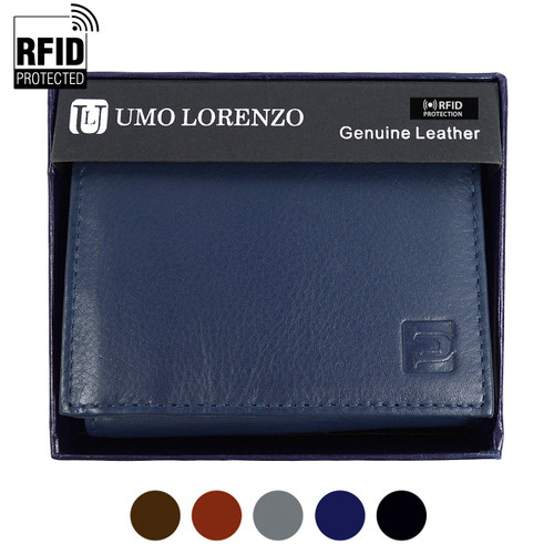 RFID Genuine Leather Tri-Fold Wallet RFID-GLTRI