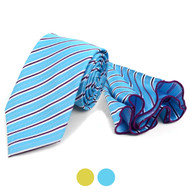 Striped Tie & Matching Pocket Round Set MPWTH170329