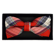 Men's  Plaid Flannel Cotton Banded Bow Tie NFB1636
