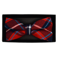 Men's  Plaid Flannel Cotton Banded Bow Tie NFB1637