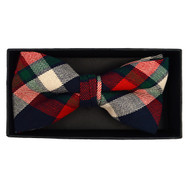 Men's  Plaid Flannel Cotton Banded Bow Tie NFB1638