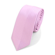 "Pink Microfiber Poly Woven 2.25"" Slim Panel Tie - MPPW1611-PK"