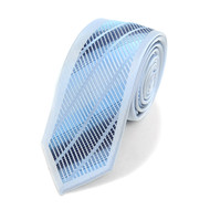 "Blue Microfiber Poly Woven 2.25"" Slim Panel Tie MPPW1616"