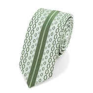 "Olive Microfiber Poly Woven 2.25"" Slim Panel Tie MPPW1622"