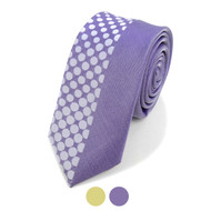 "Dotted Microfiber Poly Woven 2.25"" Slim Panel Tie MPPW1629"