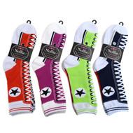 4-Packs (12 Pairs) Women's Sneaker Shoes Novelty Socks 3PKSWCS-701
