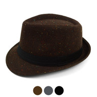 Fall/Winter Multi Color Sprinkled Fedora Hat with Band Trim H171385