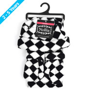 6pc Pack Toddler's (2-5 Years Old) Fleece Black & White Checkered Winter Set WSET8060-CH