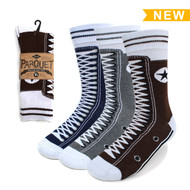 Assorted Pack (3 Pairs) Men's  Sneaker Shoes Novelty Socks 3PKS-MC603-1