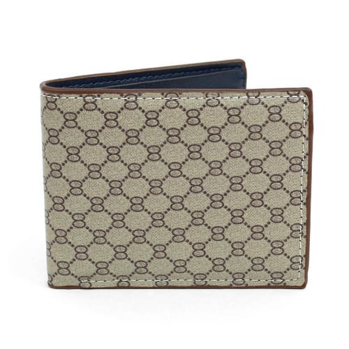 Bi-Fold Designer-Print Leather Wallet MLW5183