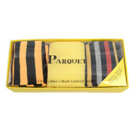 Fancy & Solid Colored 3 Pairs Socks Gift Box-Yellow