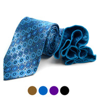 Diamond Pattern Tie & Matching Pocket Round Set MPWTH170631
