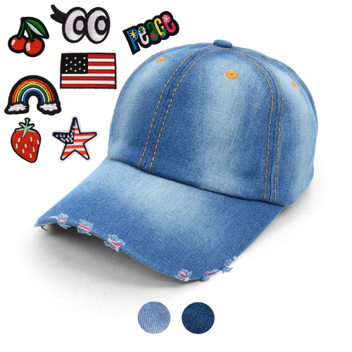Blank or Patched Denim Cap JCAP
