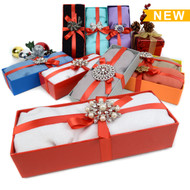 8-Boxes Women's Pashmina Scarf & matching Brooch Gift Set  Scarf/Brooch2