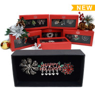 6-Boxes Random Assorted Ring and Brooch Holiday Gift Set  Ring/Brooch