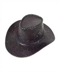 "6pc Pack 3.5"" Brim Cowboy Hat H9345"
