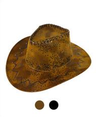 "6pc Pack 3.5"" Brim Cowboy Hat H9315"