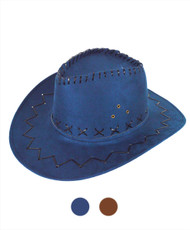 "6pc Pack 3.5"" Brim Cowboy Hat H9310"