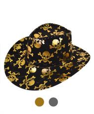 "6pc Pack 3.5"" Brim Cowboy Hat H9307"